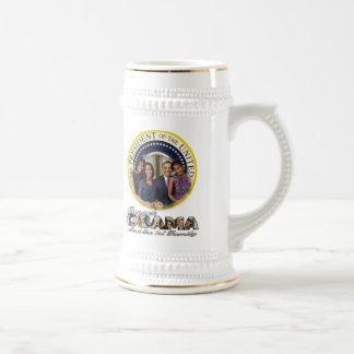 Reelección 2012 de presidente Obama Jarra De Cerveza