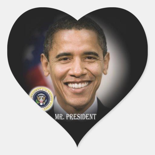 Reelección 2012 de presidente Obama Pegatina Corazón