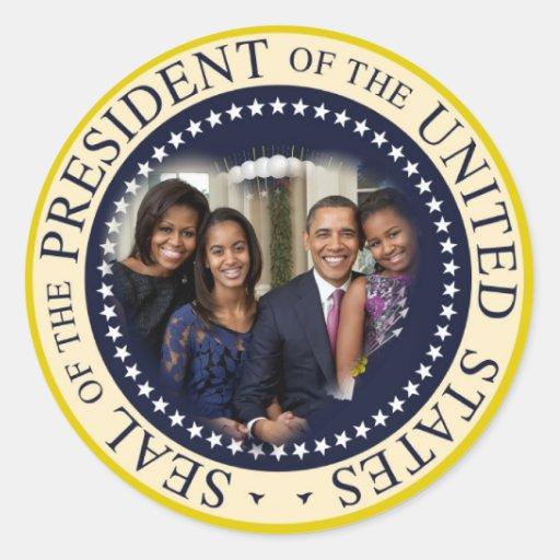 Reelección 2012 de presidente Obama Pegatinas Redondas