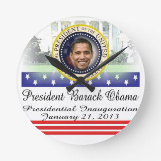 Reelección 2012 de presidente Obama Reloj De Pared