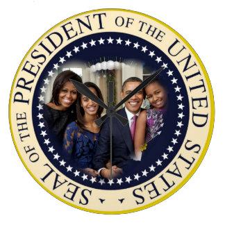 Reelección 2012 de presidente Obama Reloj Redondo Grande