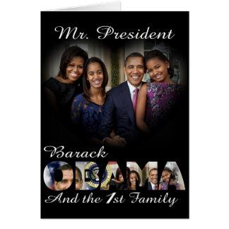 Reelección 2012 de presidente Obama Tarjeta De Felicitación