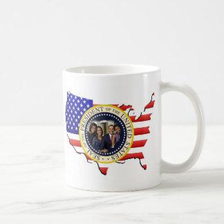 Reelección 2012 de presidente Obama Tazas De Café