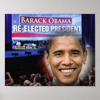 """Reelección 8"""" de presidente Barack Obama x10 """" Póster"""