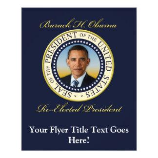 """Reelección conmemorativa de presidente Barack Folleto 4.5"""" X 5.6"""""""