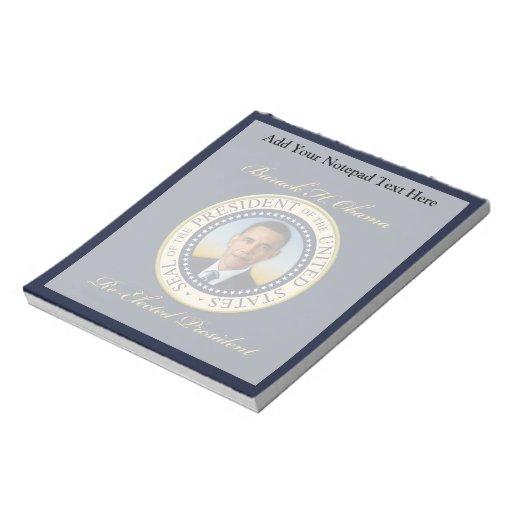 Reelección conmemorativa de presidente Barack Obam Blocs De Notas