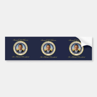 Reelección conmemorativa de presidente Barack Obam Etiqueta De Parachoque