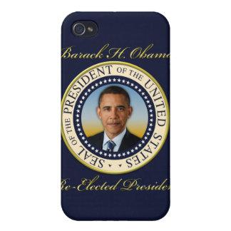 Reelección conmemorativa de presidente Barack Obam iPhone 4 Fundas