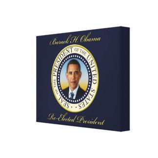 Reelección conmemorativa de presidente Barack Obam Lienzo Envuelto Para Galerías