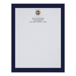 Reelección conmemorativa de presidente Barack Obam Plantilla De Membrete