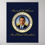 Reelección conmemorativa de presidente Barack Obam Poster