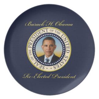 Reelección conmemorativa de presidente Barack Obam Plato