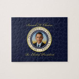 Reelección conmemorativa de presidente Barack Obam Rompecabezas Con Fotos