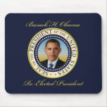 Reelección conmemorativa de presidente Barack Obam Tapetes De Ratones