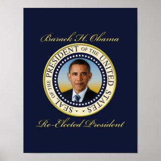 Reelección conmemorativa de presidente Barack Póster