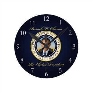Reelección conmemorativa de presidente Barack Reloj Redondo Mediano