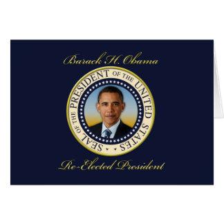 Reelección conmemorativa de presidente Barack Tarjeta De Felicitación