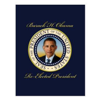 Reelección conmemorativa de presidente Barack Tarjetas Postales