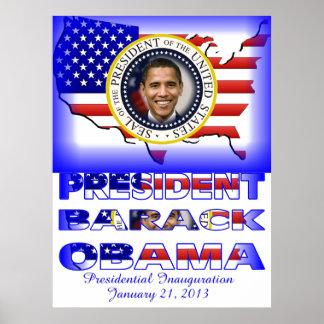 Reelección de presidente Barack Obama Póster