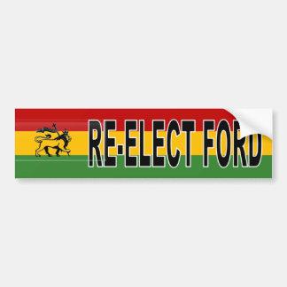 Reelección de Rasta Rob Ford Pegatina Para Auto