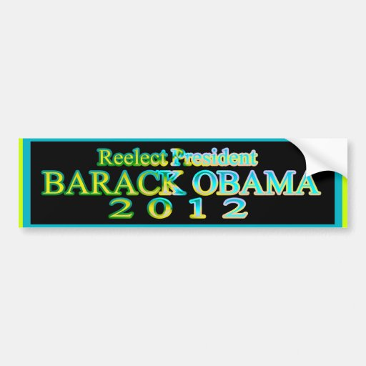REELECT BARACK OBAMA 2012 BUMPER STICKER