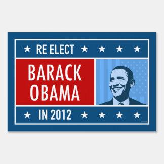 Reelect Barack Obama 2012 Yard Sign