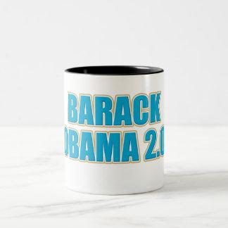 ReElect BARACK OBAMA 20 in 2012 Coffee Two-Tone Coffee Mug