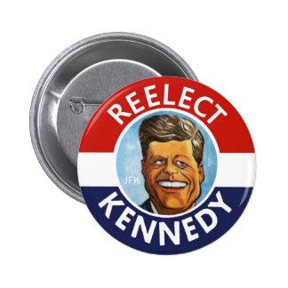REELECT JFK JACK KENNEDY BUTTON