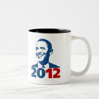 ReElect Obama 2012 Two-Tone Coffee Mug
