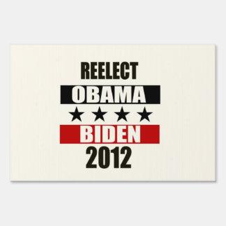 Reelect Obama Biden 2012 Sign