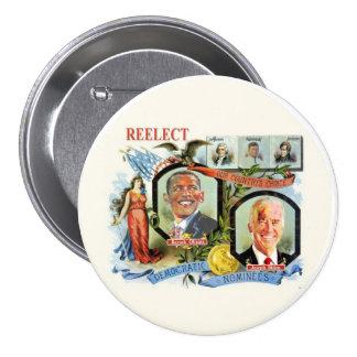 Reelect Obama Biden Democrat Nominees Pins