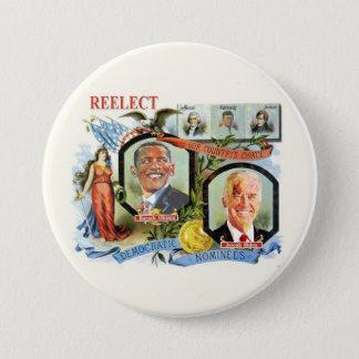 Reelect Obama Biden Democrat Nominees Pinback Button