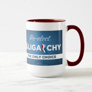 Reelect Oligarchy Anti Obama Romney Mug