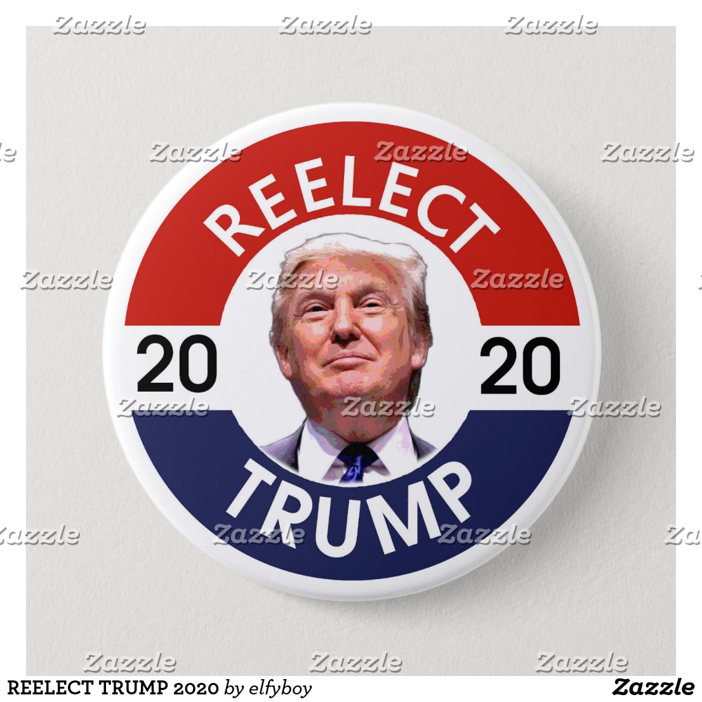 REELECT TRUMP 2020 PINBACK BUTTON