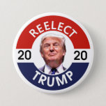 "REELECT TRUMP 2020 PINBACK BUTTON<br><div class=""desc"">TWO TERMS</div>"