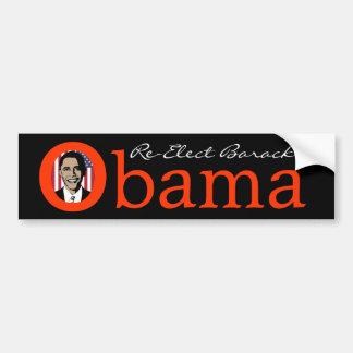 Reelija a Barack Obama, imagen en pegatina para el Pegatina Para Auto