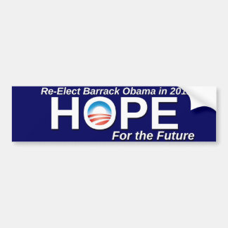 Reelija a Barack Obama Pegatina Para Auto