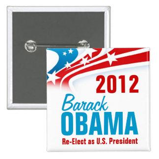 Reelija a Barack Obama Pin Cuadrado