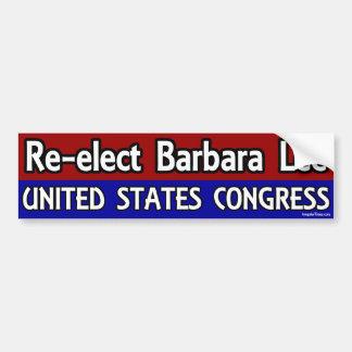 Reelija a Barbara Lee al congreso Etiqueta De Parachoque