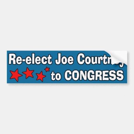 Reelija a Joe Courtney al congreso Pegatina Para Auto