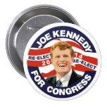 Reelija a Joe Kennedy 2014 Pin Redondo 7 Cm