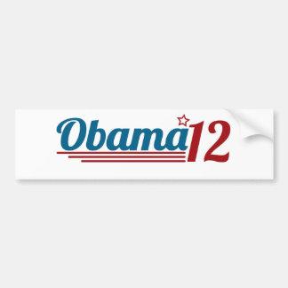 Reelija a Obama '12 Etiqueta De Parachoque