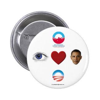 Reelija a OBAMA 2012 BU políticos del pinback del Pin Redondo De 2 Pulgadas
