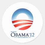 Reelija a Obama 2012 Etiqueta Redonda