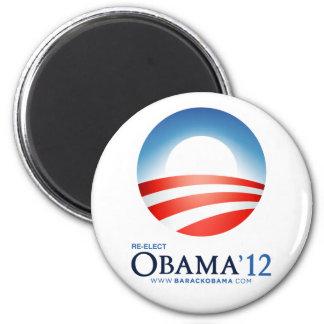 Reelija a Obama 2012 Imán Redondo 5 Cm
