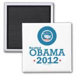 Reelija a Obama 2012 Imán Cuadrado