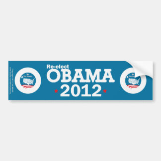 Reelija a Obama 2012 Pegatina Para Auto