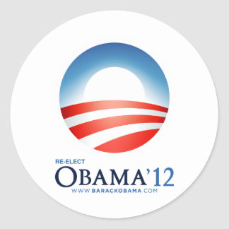 Reelija a Obama 2012 Pegatina Redonda