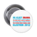 Reelija a Obama 2012 Pin