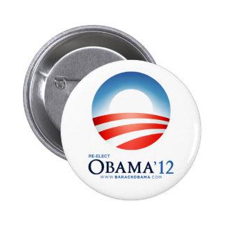 Reelija a Obama 2012 Pin Redondo 5 Cm